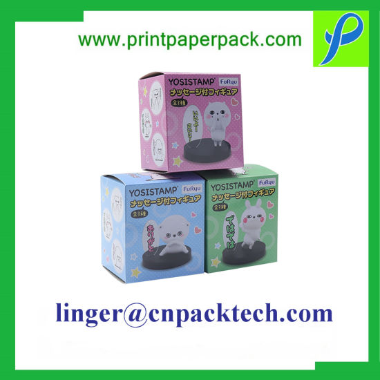 Printed Folding Rigid Cardboard Paper Gift Packing Box with Decorative Design pictures & photos