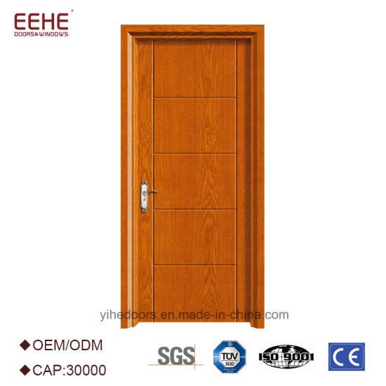Composite Hollow/Solid Wooden Interior Modern Wood Groove Flush Door