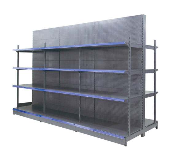 Factory Wholesale Double Sided Shopping Mall Modern Display Stand Racks Storage Shelf