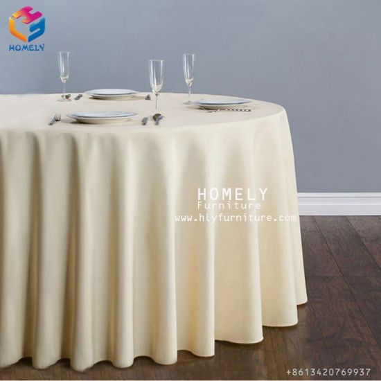Enjoyable Hotel Banquet Cotton Party White Wedding Round Table Cloth For Event Download Free Architecture Designs Grimeyleaguecom