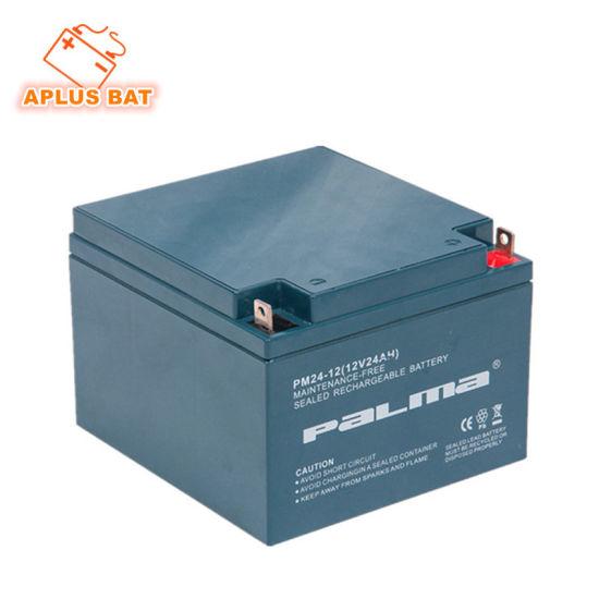 European Market Popular Model 12V 24ah Solar Batteries for Backup