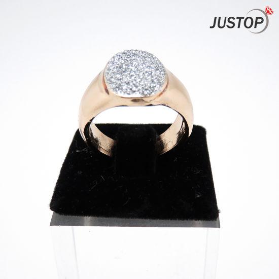 Single Diamond Enement Rings | China Shining Diamond Element Full Zirconia Stone Ring With Hip Hop