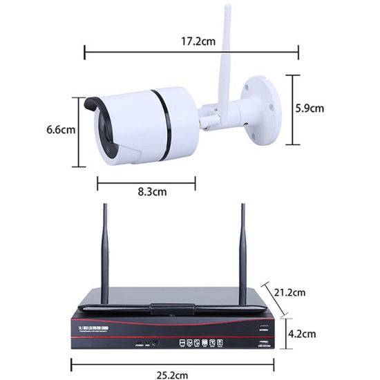8CH CCTV Wireless System 1.3MP Support P2p Cloud pictures & photos