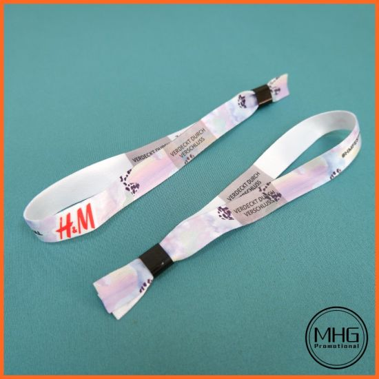 Factory Promotional Polyester Fabric Event Wristband