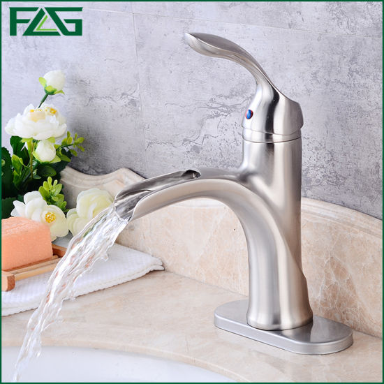 Flg Brushed Nickle Bathroom/Kitchen/Sanitary Ware Waterfall Faucet