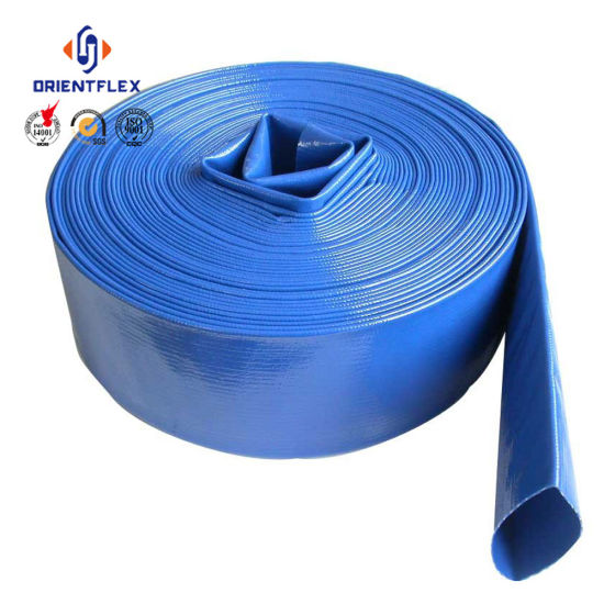 Blue Light Agriculture Irrigation Water Discharge PVC Layflat Hose pictures & photos
