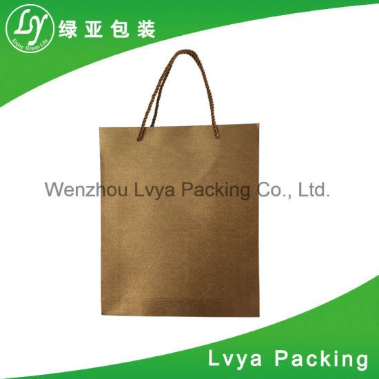 9e4bb8f248 China Print Logo Cloth Foods Bread Packaging Brown Kraft Paper Bags ...