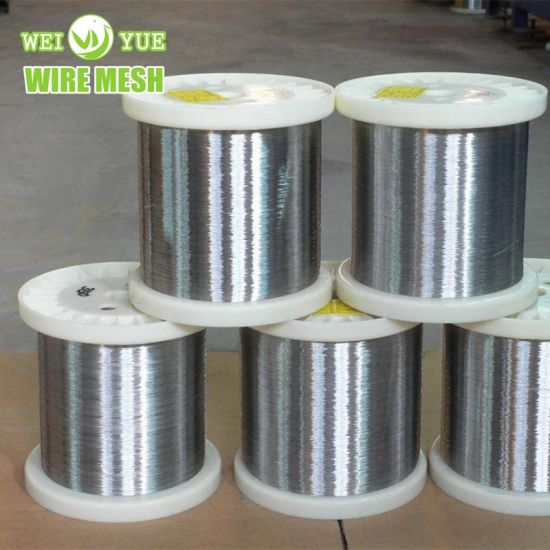 Ultra Thin Bright Annealed Stainless Steel Weaving Wire Used for Cut Resistant Gloves