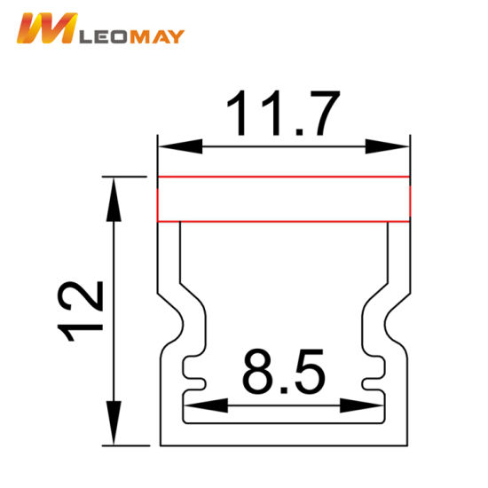 LED Channel Track Aluminum Profile for 8mm LED Strip pictures & photos