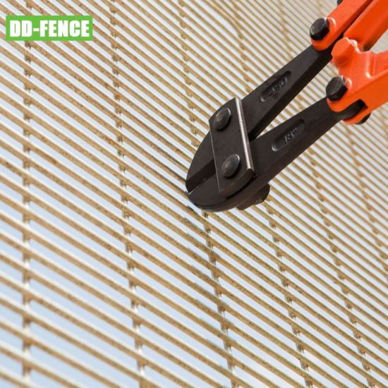 BS1722 1.8m 2D 358 Anti Climb Panel Powder Coated Iron Wire Mesh Secure Wall Fencing