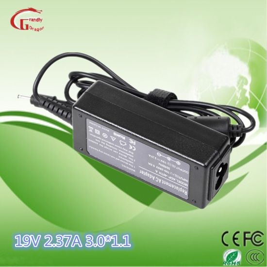 Laptop Charger AC DC Power Adapter Power Supply for Asus 19V 2.37A 45W 3.0*1.0mm pictures & photos