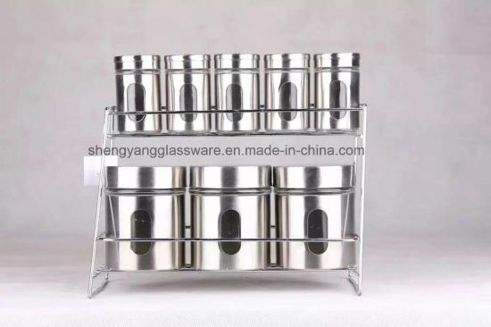 Multiple Types of Glass Bottle Sets Glass Spice Jar with Ss Cover