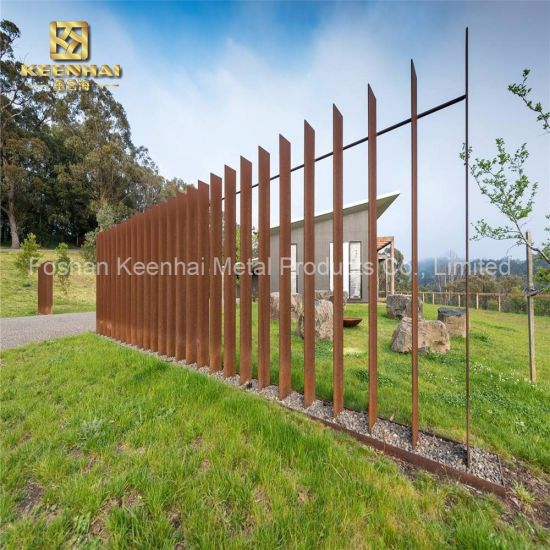 China Outside Anti Rusting Metal Fence Corten Steel Kh Ct 07