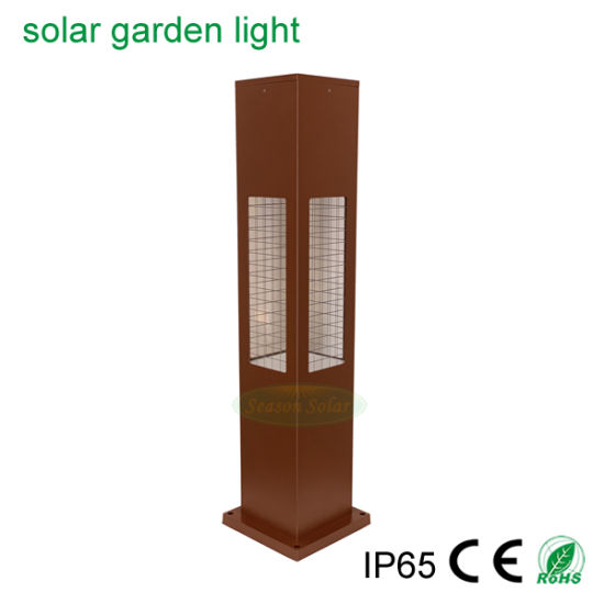 Landscape Lawn Square Pathway Lighting Solar Powered Outdoor Garden Light with Warm+White LED Lamp