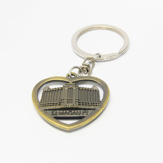 New Design Antique Heart Shaped Souvenir Keychain
