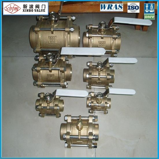 Cw617n 3PC Brass Ball Valve for Chinese Supplier pictures & photos