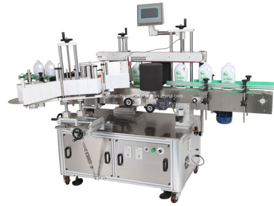 Two Double Sides Flat Bottle Labeling Machine