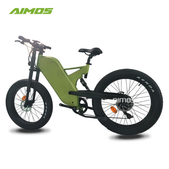 Full Suspension Fat Tire Electric Bicycle for Mountain Riding