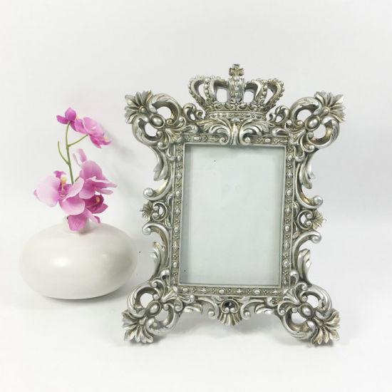 China Wholesale Antique Crown Design Polyresin Moulding Photo Frame ...