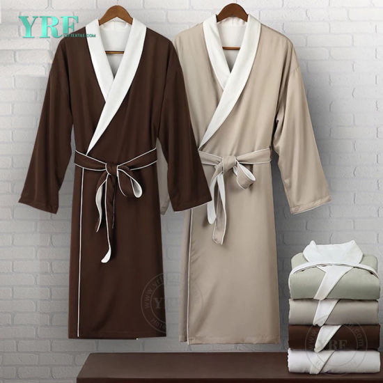 Guangzhou Foshan Wholesale 100 Cotton Luxury Hotel Velour Kimono Bathrobe for Yrf