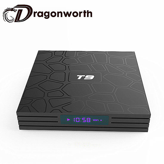Video TV Box T9 Rk3328 Free Android Download Google Play Store Receiver International TV Digital TV Receiver HD Satellite Receiver Media Star pictures & photos