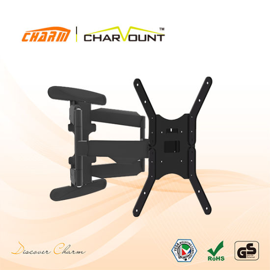 180 Degree LCD TV Bracket Mount with Plastic Cover Cable Management (CT-LCD-L02MX)