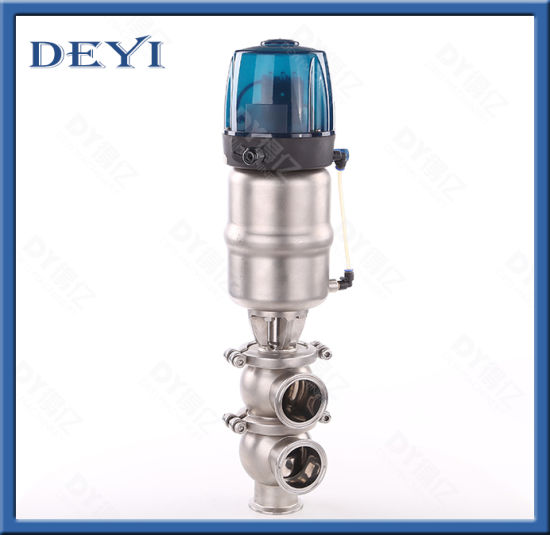 SS316L Stainless Steel Pneumatic Ll Type Reversing Valve with Control Head