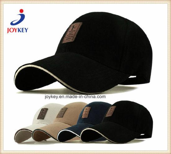 High Quality Heavy Brushed Cotton 6 Panels Baseball Cap with Customized Logo