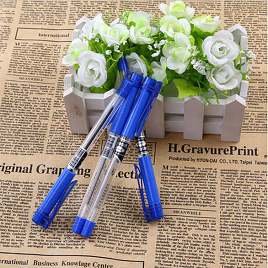 New Commodity Stationery Plastic Plug-in Translucent Ball Pen