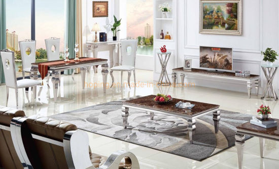 China Dining Table Set Marble Coffee Table Nordic Style Home Furniture Metal Large Wrought Iron Golden Square Modern Corner Side Table China Restaurant Table Marble Table