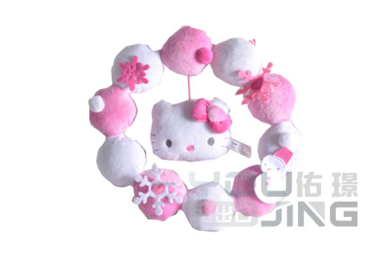 Gift Home Decoration Hello Kitty Stuffed Toy Plush Wreath