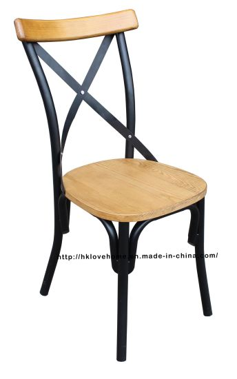 Super Morden Industrial Dining Restaurant Coffee Metal Wooden Cross Back Chairs Alphanode Cool Chair Designs And Ideas Alphanodeonline