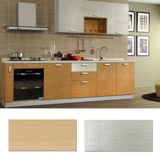 China Kitchen Cabinets Eco Friendly Wall Board 3D Decorative Wall ...