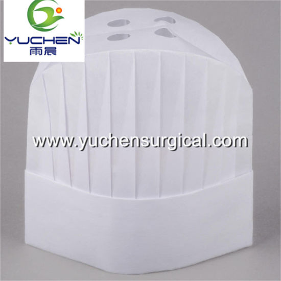 Competitive Breathable Disposable Hygiene Non-Woven Paper Chef Hat