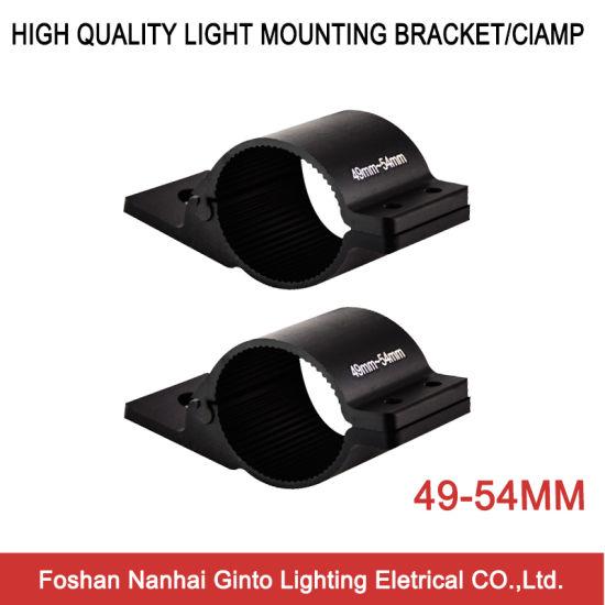 2PCS Clamps Round Tube Mounting Brackets Holders 49-54mm Bull Bar LED Work Light