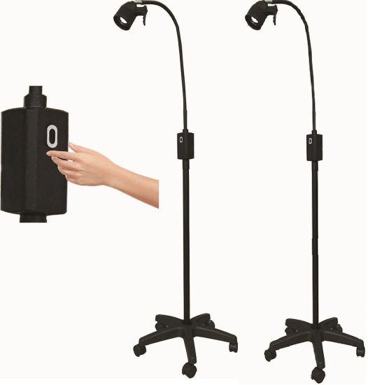3W Ks-Q3s Touchless Hand Sensitive Control LED Surgical Light Black Mobile Light