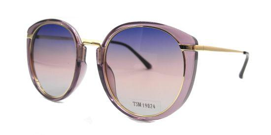 Round Transparent Pink Sunglasses Frame, Stylish Colorful Polarized Lens
