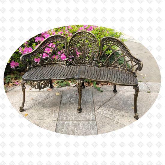 China Cast Aluminum Furiture Outdoor, 3 Seater Cast Aluminium Garden Bench