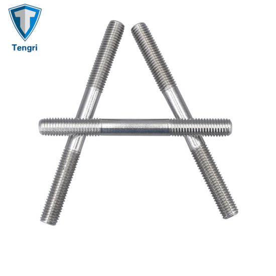 DIN and ANSI Standard OEM Factory Price Stainless Steel Double End Threaded Stud Bolts