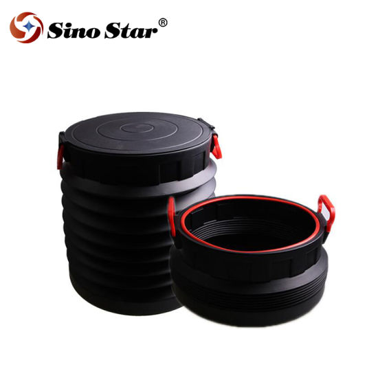 China 25l Folding Water Bucket With Lid