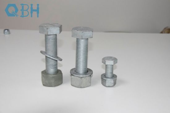 ASTM A325 A325m Full Thread/Half Thread Hex Bolt with 2h Nut with F436m Washer, HDG, Heavy Hex Bolts and Nuts, HDG Thread Bolts Structural