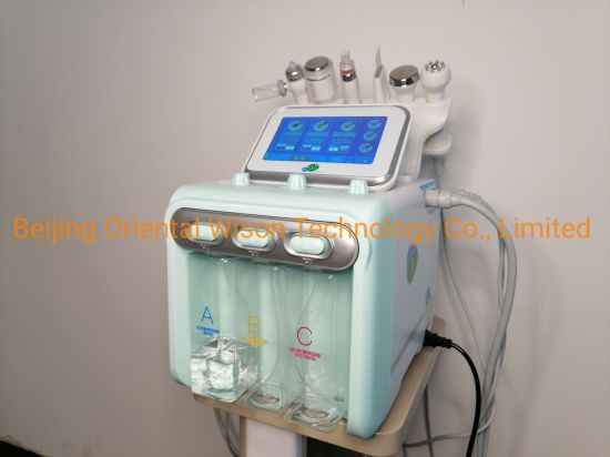 2021 Factory Directly Customized Boot Logo Skin Care Diamond Facial Vacuum High Frequency Facial Water Peel Dermabrasion Machine