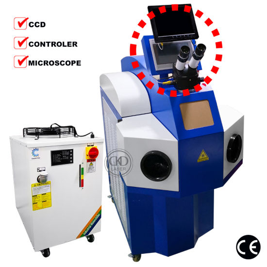 200W Gold Silver Metal Alloy Jewelry Laser Welding Machine with CCD