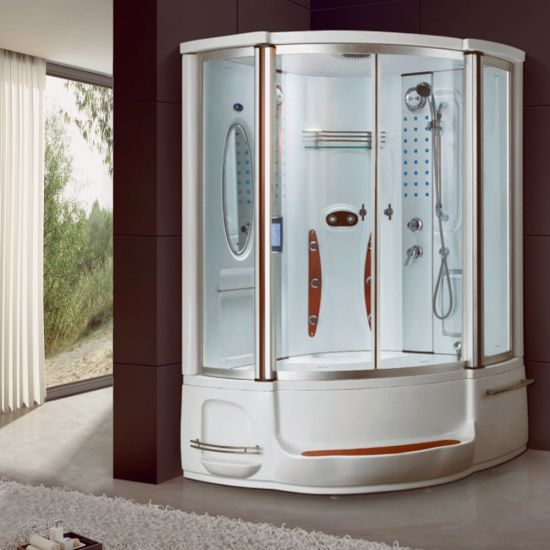 Modern Indoor Bath Digital Control Prefab Steam Massage Shower Rooms
