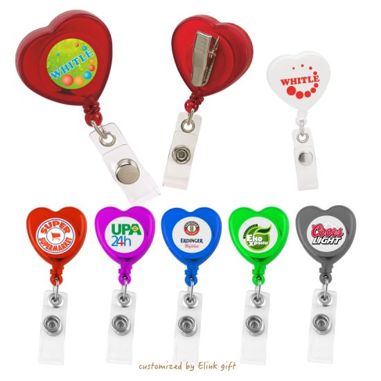 Mini Retractable Pull Reel Key Chain Badge Cable Cord Reel ID Card Holder