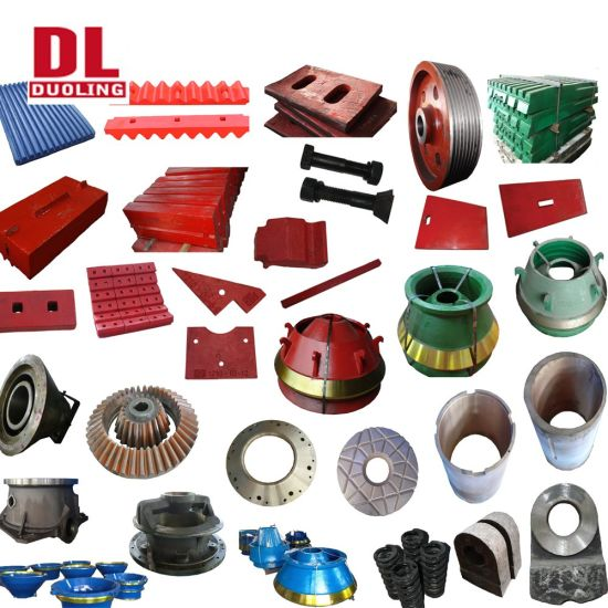 Stone/Rock/Mining Crusher Wear Spare Parts Jaw/Cone/Impact/VSI Crusher Parts
