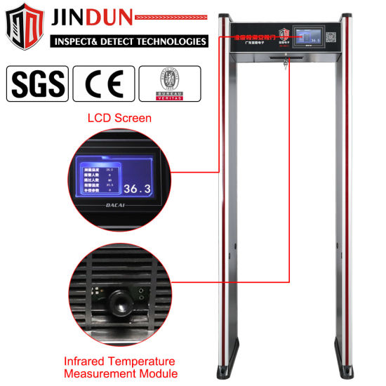 Walk Through Automatic Non Contact Digital Thermometer with Infrared Temperature Sensor