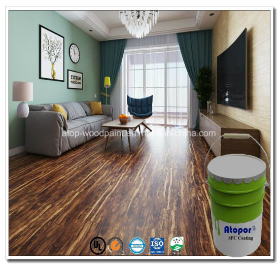 China Top 10 Floor Paint Uv Roller Coating Waterproof Wear Resistance Wood Texture Varnish Topcoat For Wpc Spc