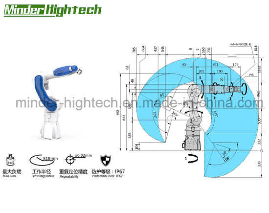 Automatic 6 Axis Robot Arm Manipulator Vision System Positioning Drilling  Workstation CNC Machine