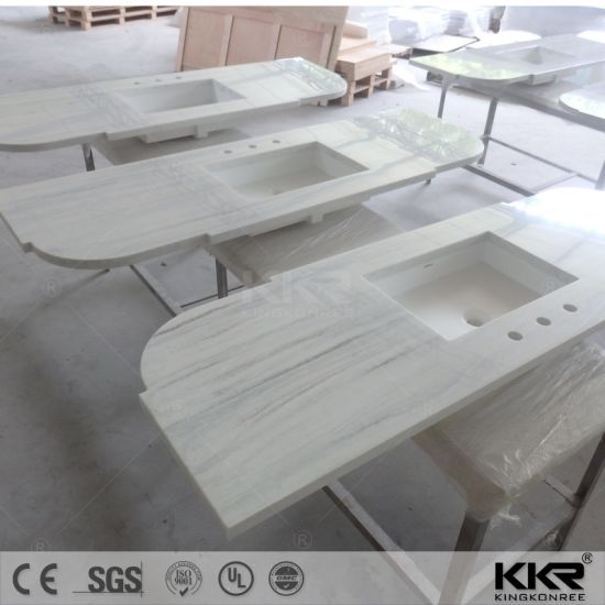 Custom Made Solid Surface Kitchen Bench Top With Sink